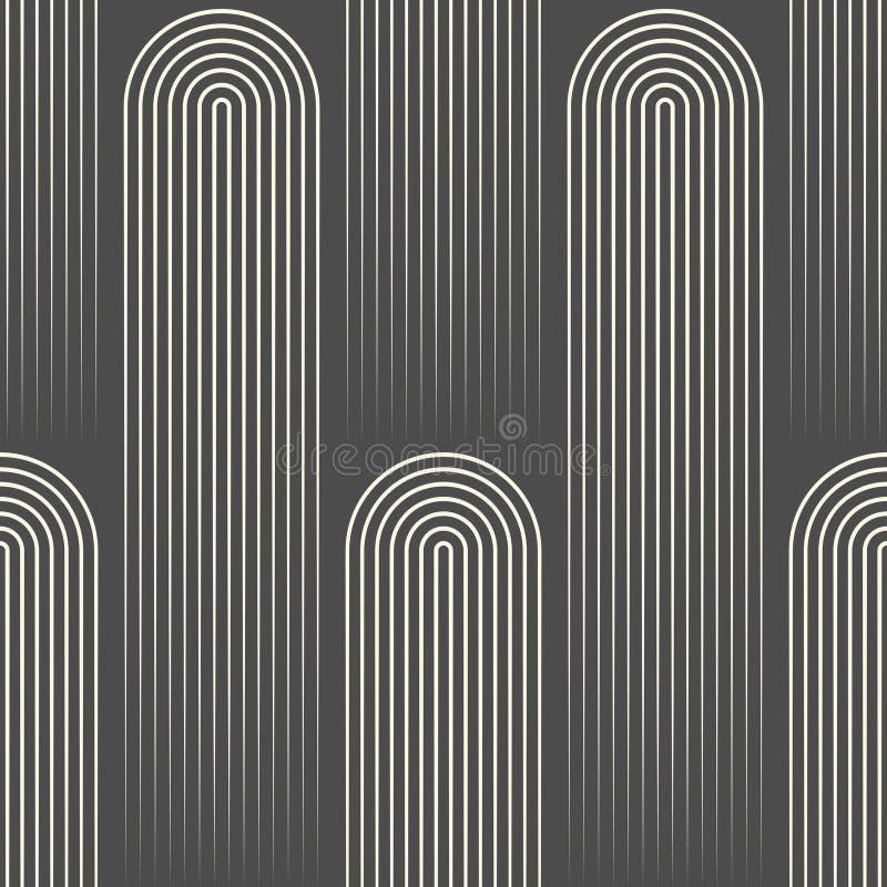 Nahtlose gezeichnete Tapete Minimales Disco-Grafikdesign lizenzfreie abbildung