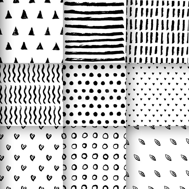 Nahtlose gezeichneter Vektor der Muster Hand vektor abbildung