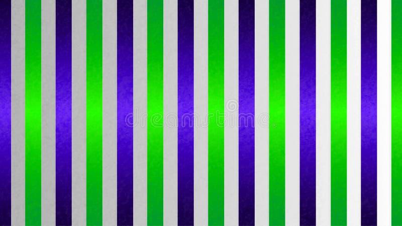 Nahtlose glänzende verschachtelte blaue und grüne Streifen masern in Gradated Gray Grunge Background stockbilder
