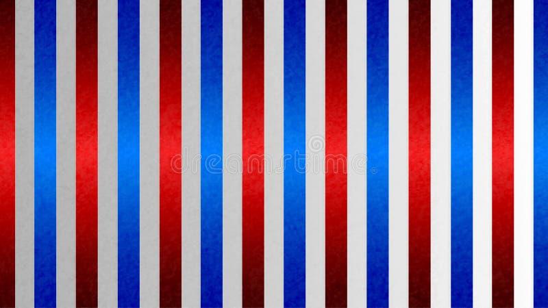 Nahtlose glänzende verschachtelte blaue und rote Streifen masern in Gradated Gray Grunge Background stockfotografie