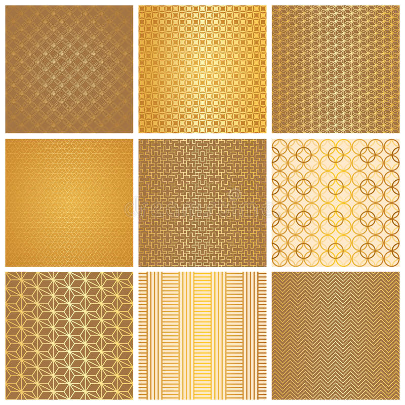 Nahtlose goldene Muster lizenzfreies stockfoto