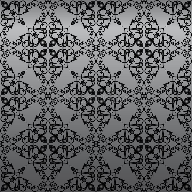 Nahtlose gotische Damast-Tapete lizenzfreie abbildung