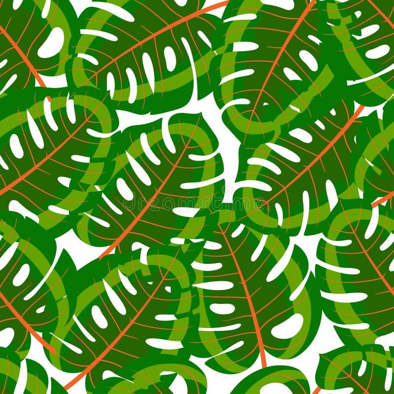 Nahtlose grüne tropische Blätter vektor abbildung