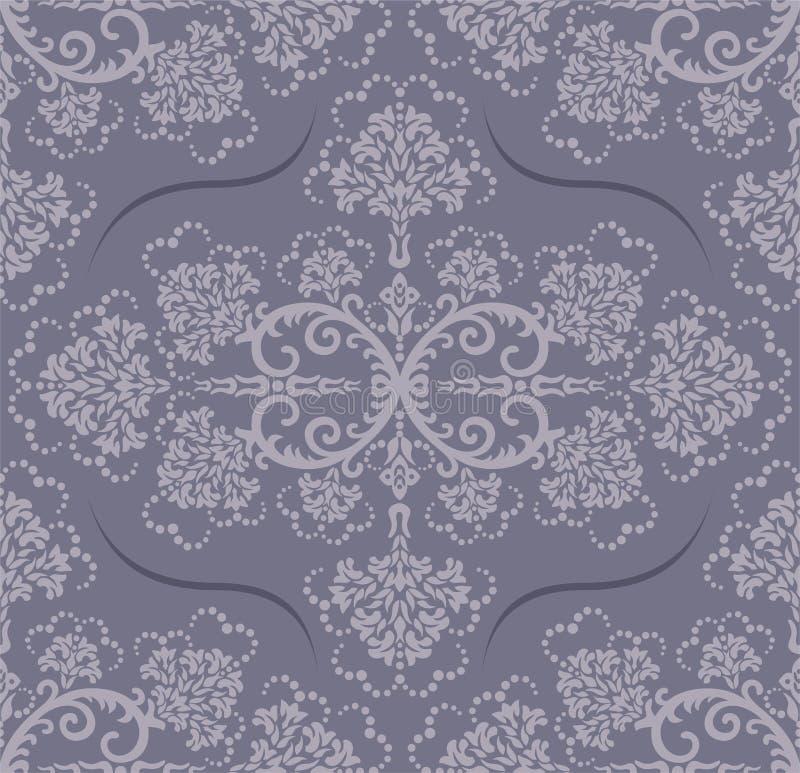 Nahtlose graue Blumentapete vektor abbildung