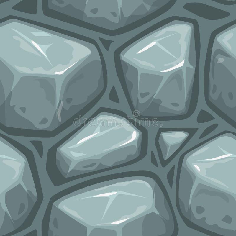 Nahtlose graue Steinbeschaffenheit lizenzfreie abbildung