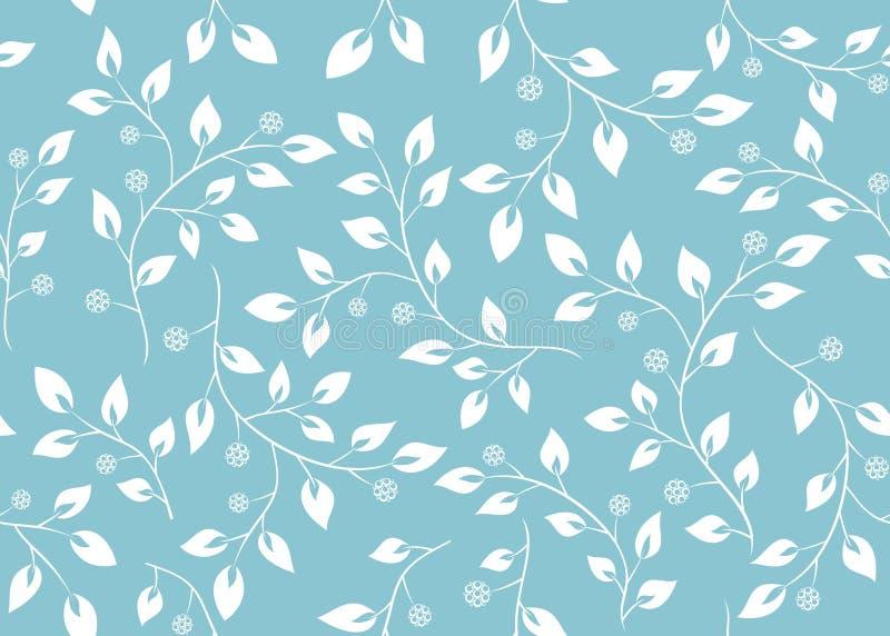 Nahtlose hellblaue Blumenbeschaffenheit stock abbildung