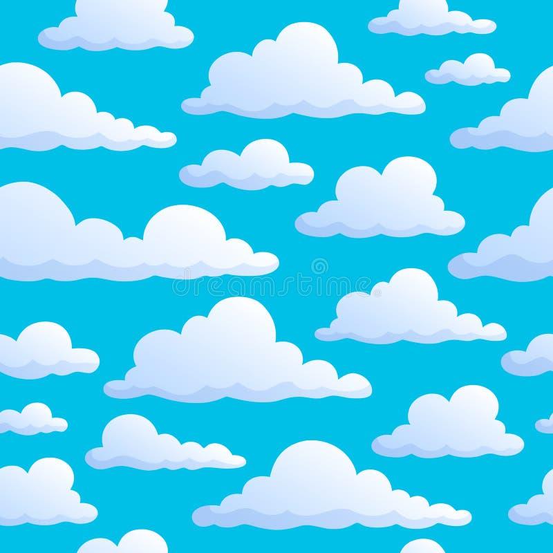 Nahtlose Hintergrundwolken auf Himmel stockbilder