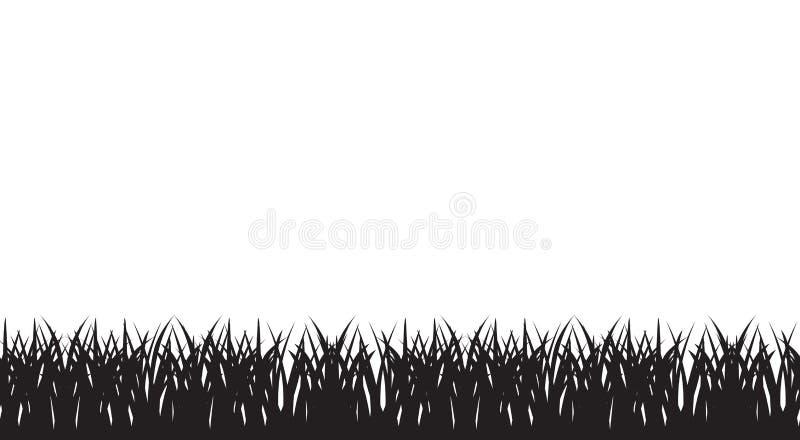 Nahtlose Illustration des Vektors des Schattenbildes des Grases lizenzfreie abbildung