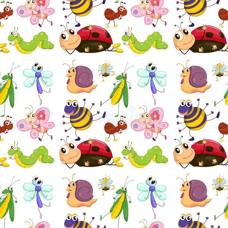 viele insekten um den stumpfbaum vektor abbildung