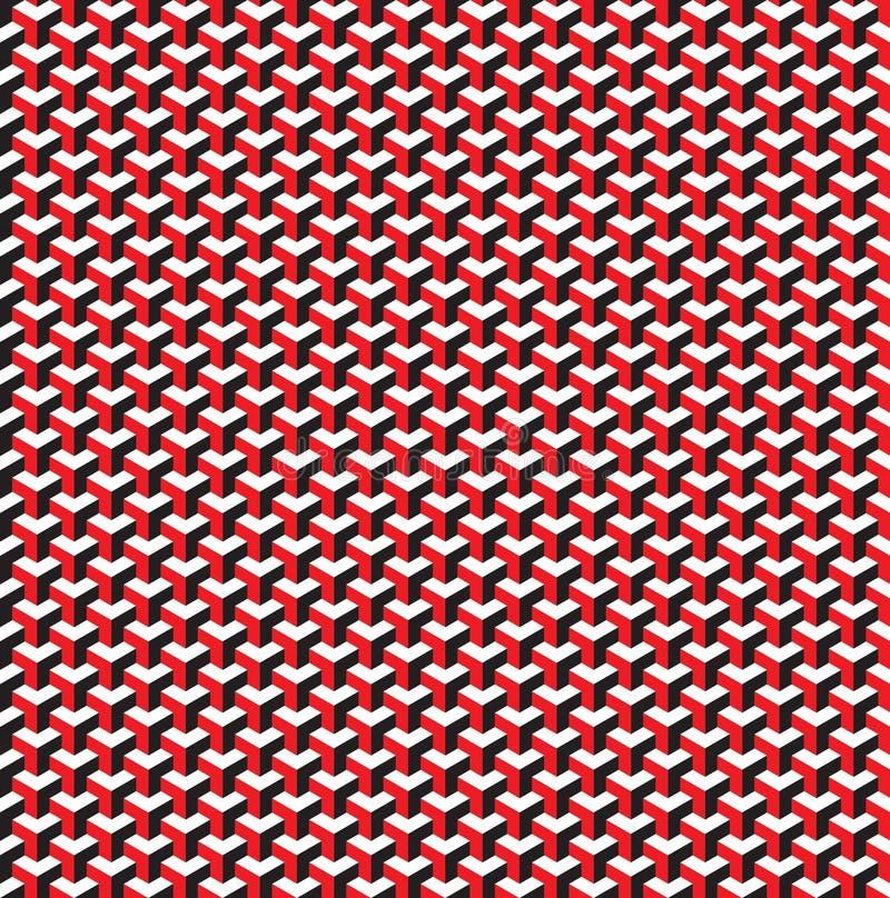 Nahtlose isometrische Muster-Hintergrundbeschaffenheit des Würfels 3d vektor abbildung