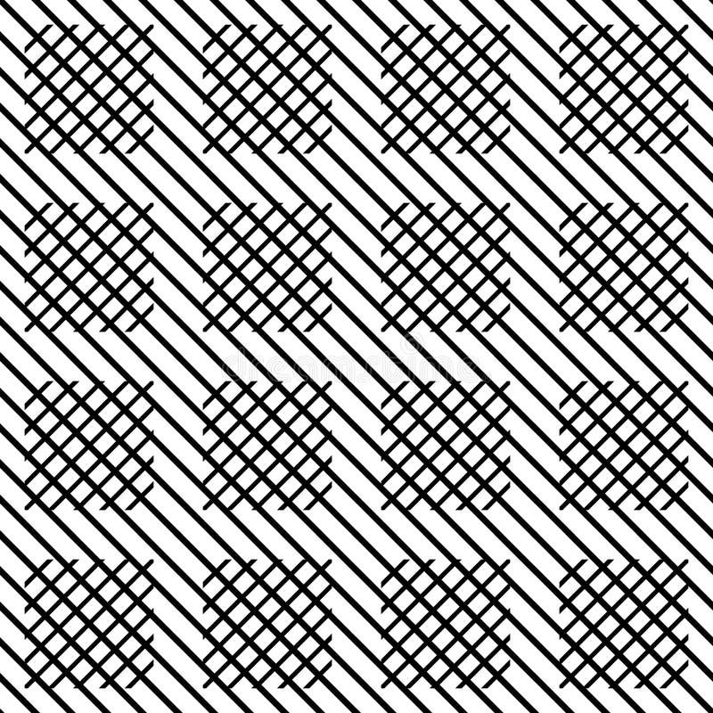 Nahtlose Kontrolle des Vektors zeichnet das Schwarzweiss Muster Abstrakte Hintergrund Tapete Auch im corel abgehobenen Betrag stock abbildung