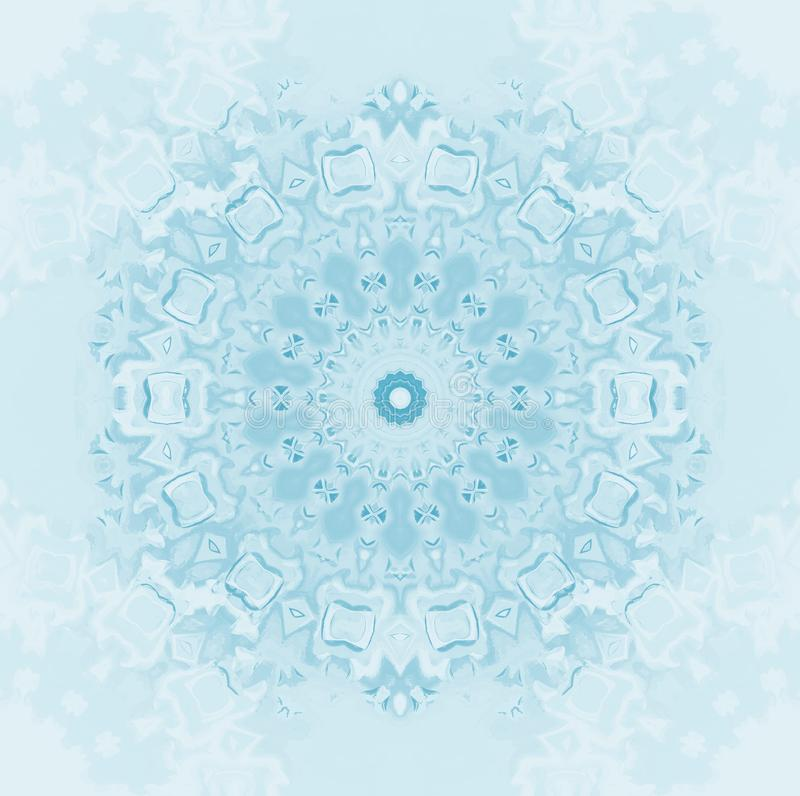 Nahtlose Kreismuster-Zusammenfassungsschneeflocke vektor abbildung
