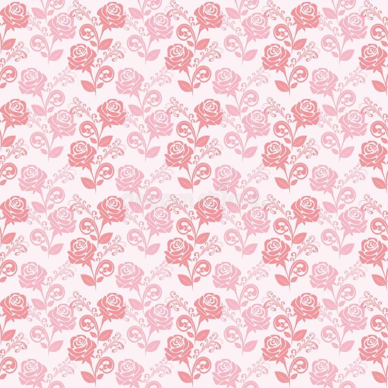 Nahtlose leicht rosa tapete mit rosen stockbilder bild for Tapete rosen