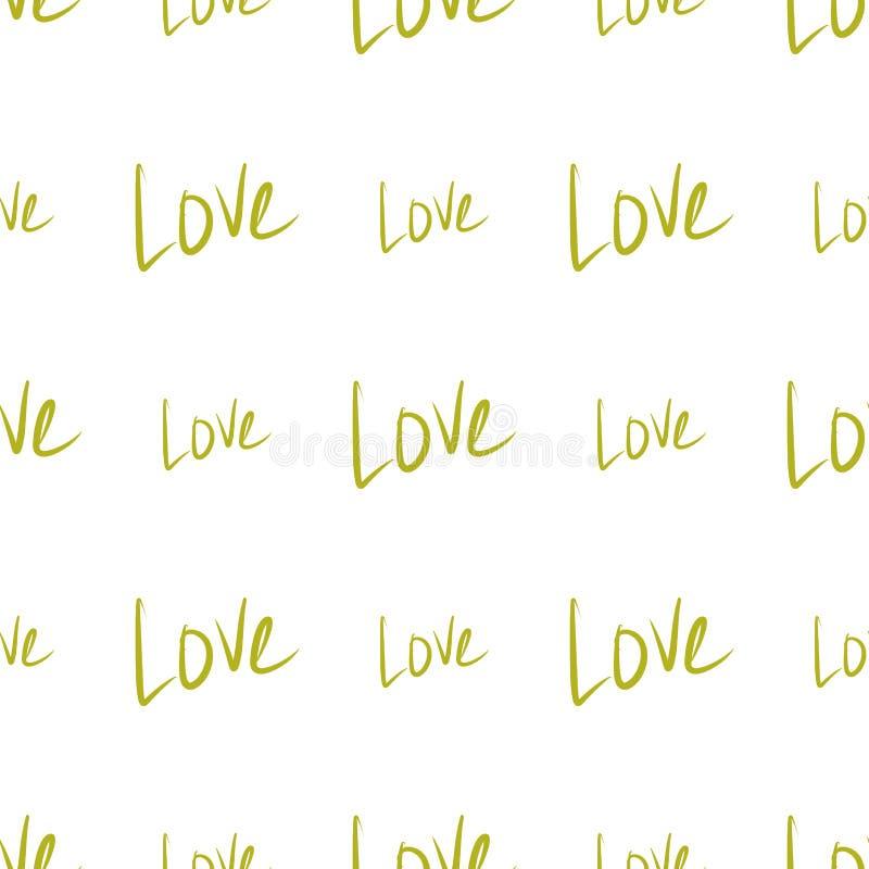 Nahtlose Liebe für Valentinstag, Feiern oder Jahrestagszusammenfassung, Handgezogene Beschaffenheit, Hintergrund oder Hintergrund stock abbildung