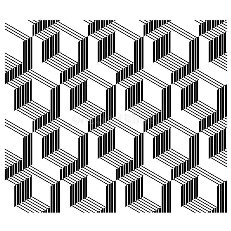 nahtlose Linie Hintergrund der Architekturecken 3D stock abbildung