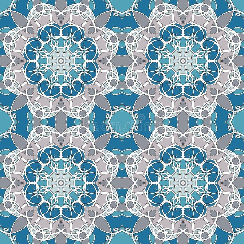 Nahtlose Mandala Muster der Weinlese stockfotos