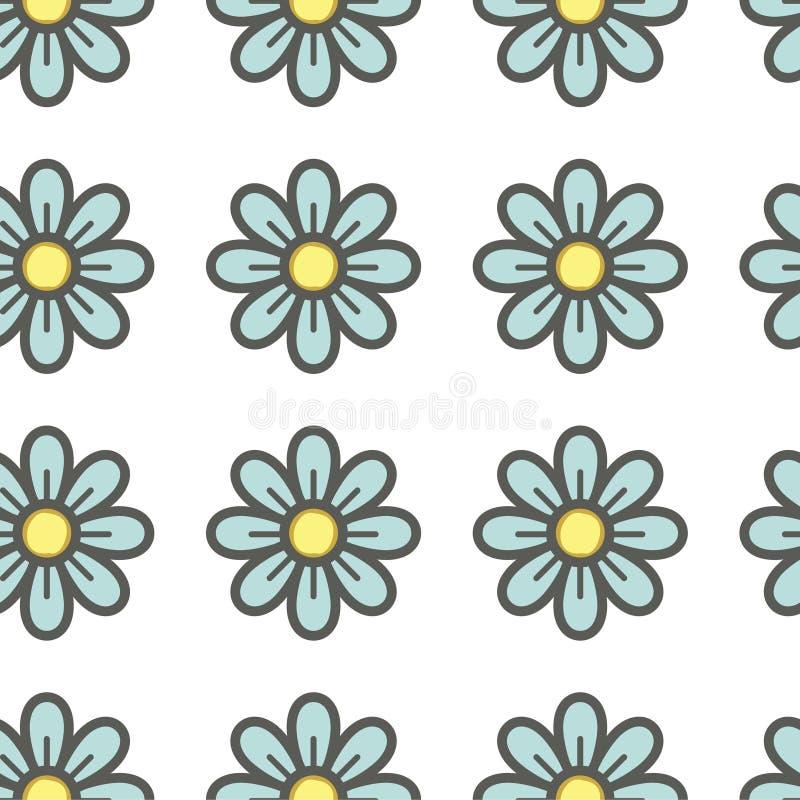 Nahtlose mit Blumenbeschaffenheit vektor abbildung