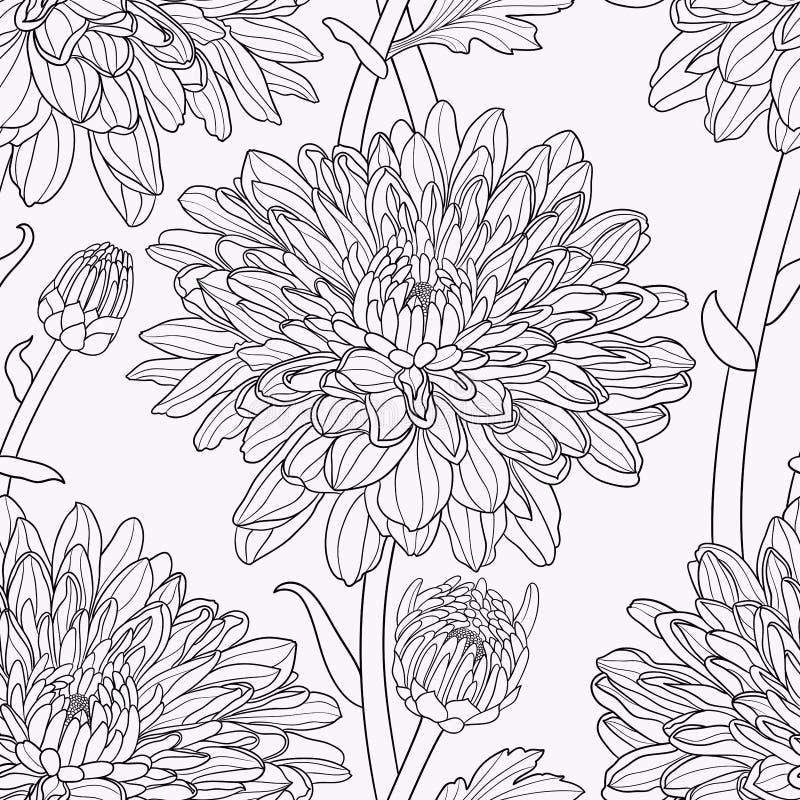 Nahtlose mit Blumenhand gezeichneter Vektor vektor abbildung