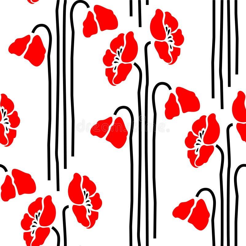 Nahtlose mit Blumenverzierung vektor abbildung