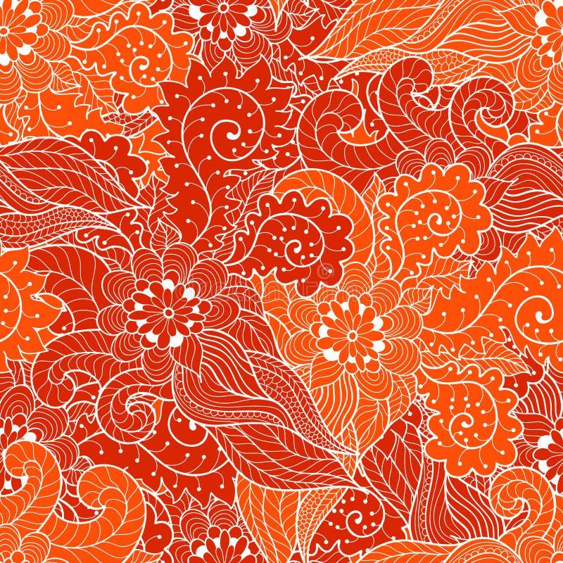 Nahtlose mit Blumenverzierung stock abbildung
