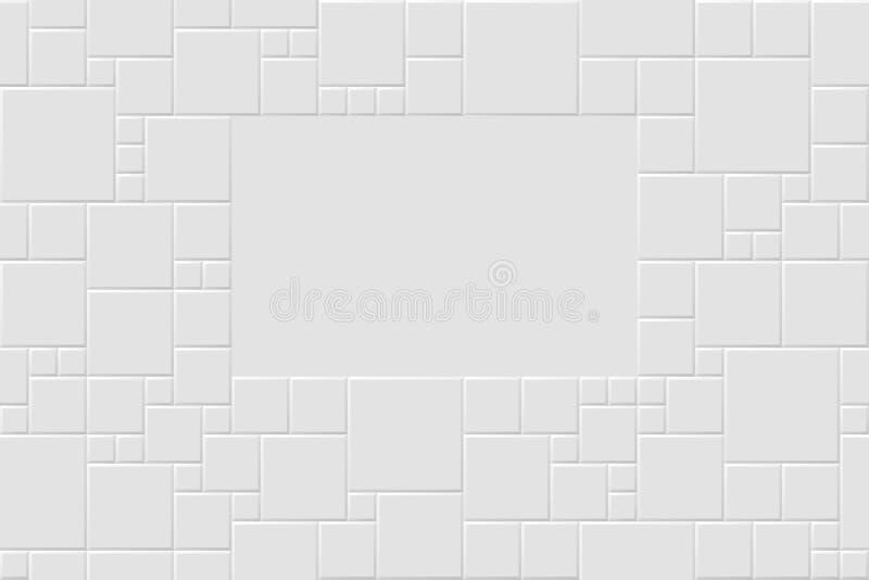 Nahtlose Mosaikbeschaffenheit mit Raum für Text stock abbildung