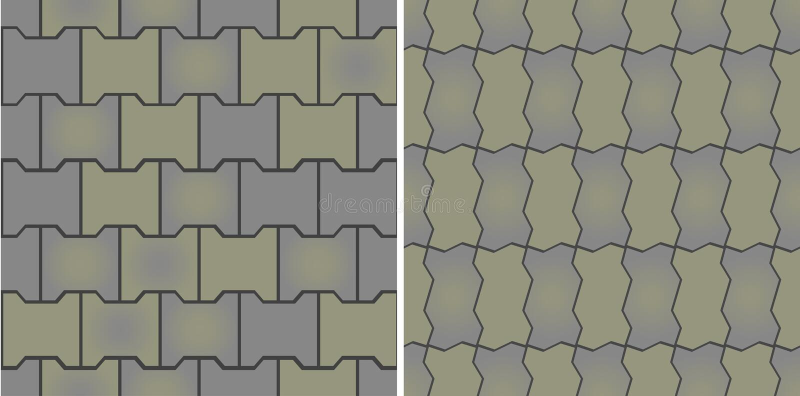 Nahtlose Muster der Plasterung vektor abbildung