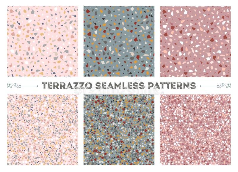 Nahtlose Muster des Terrazzo stock abbildung