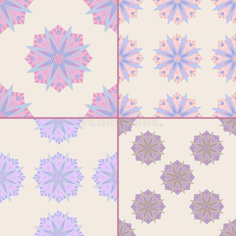 Nahtlose Muster mit Mandala vektor abbildung