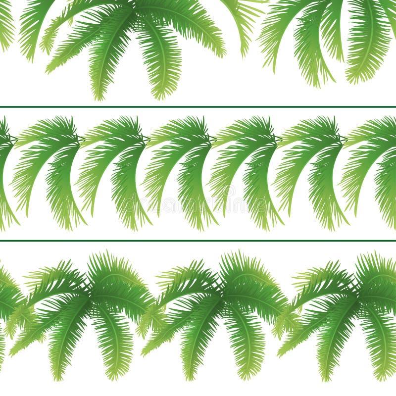 Nahtlose Muster, Palmblätter lizenzfreie abbildung