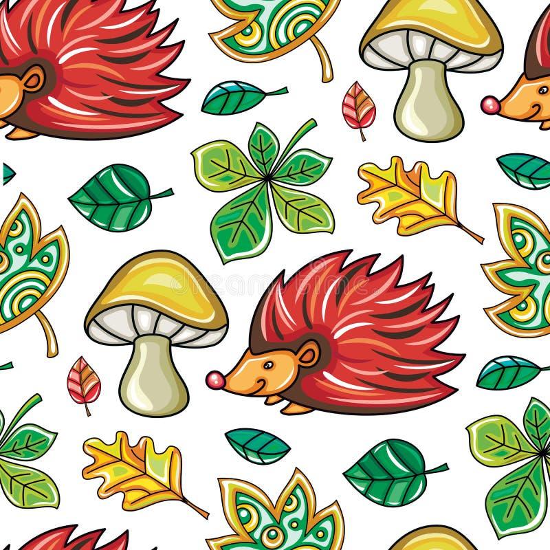 Nahtlose Muster-Reihe des Herbstes lizenzfreie abbildung