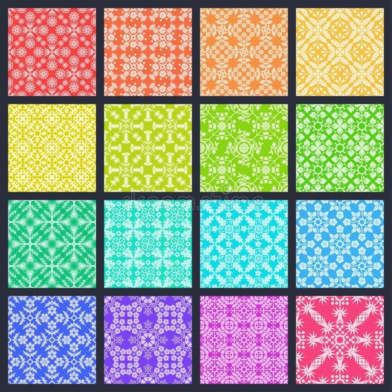 16 nahtlose Muster lizenzfreie abbildung