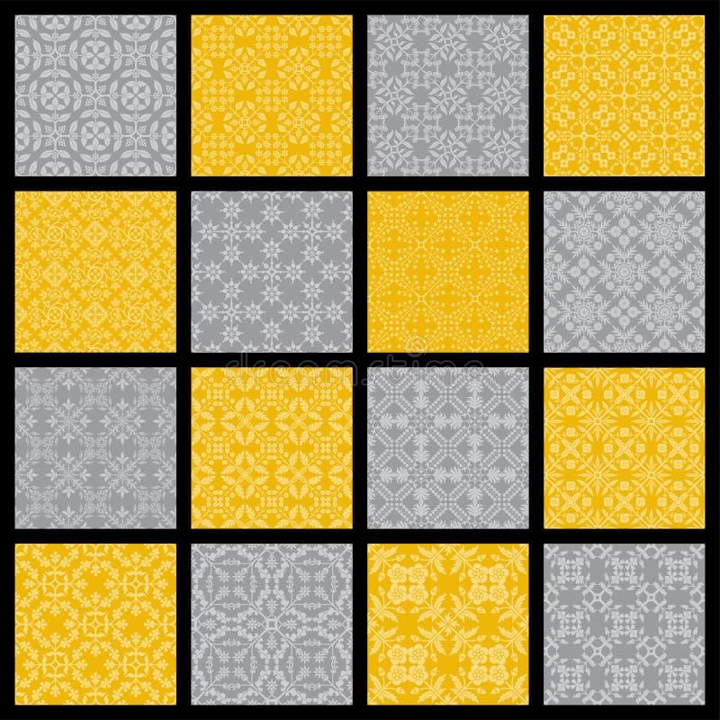 16 nahtlose Muster vektor abbildung