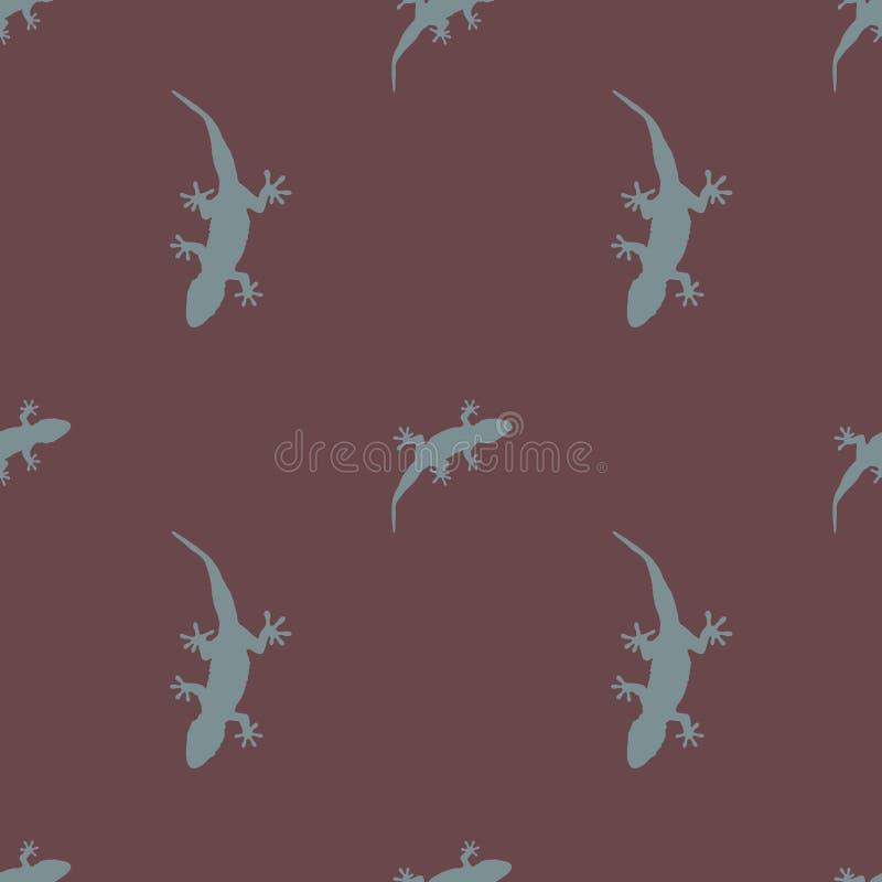 Download Nahtlose Mustereidechse, Im Vektor 2019 Des Farbwinters 2018 Vektor Abbildung - Illustration von salamander, winter: 106804605