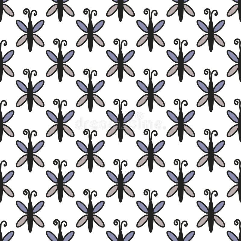 Nahtlose Mustergestaltungselemente des Insekts Kann für Einladungen, Grußkarten, Druck, Geschenkverpackung verwendet werden lizenzfreie stockfotografie
