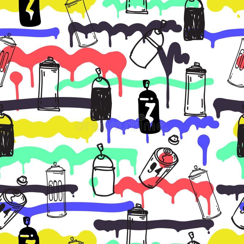Nahtlose Mustergraffiti stock abbildung
