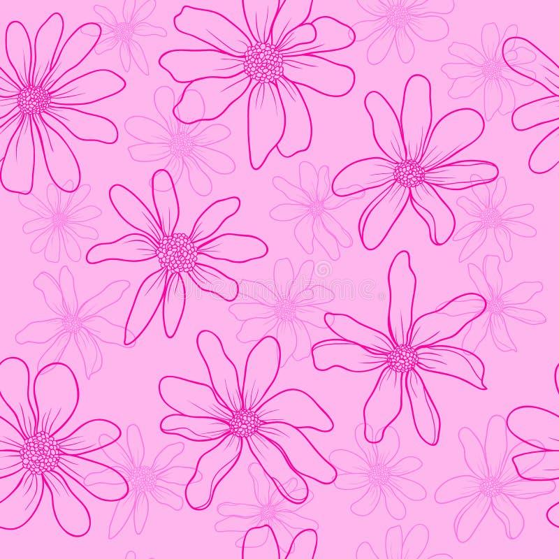 Nahtlose Musterrosablumen stockfoto
