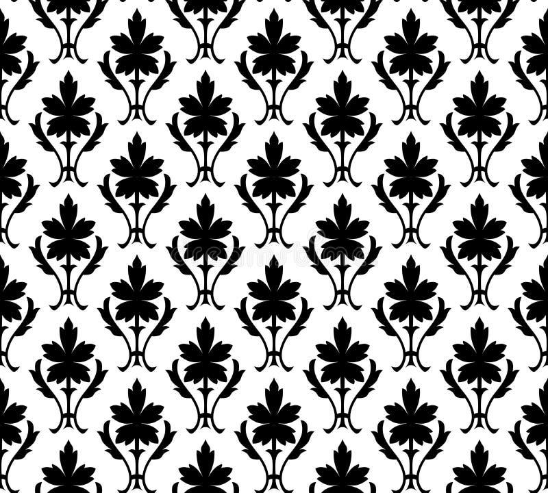Nahtlose Mustertapete mit Blumen lizenzfreie abbildung