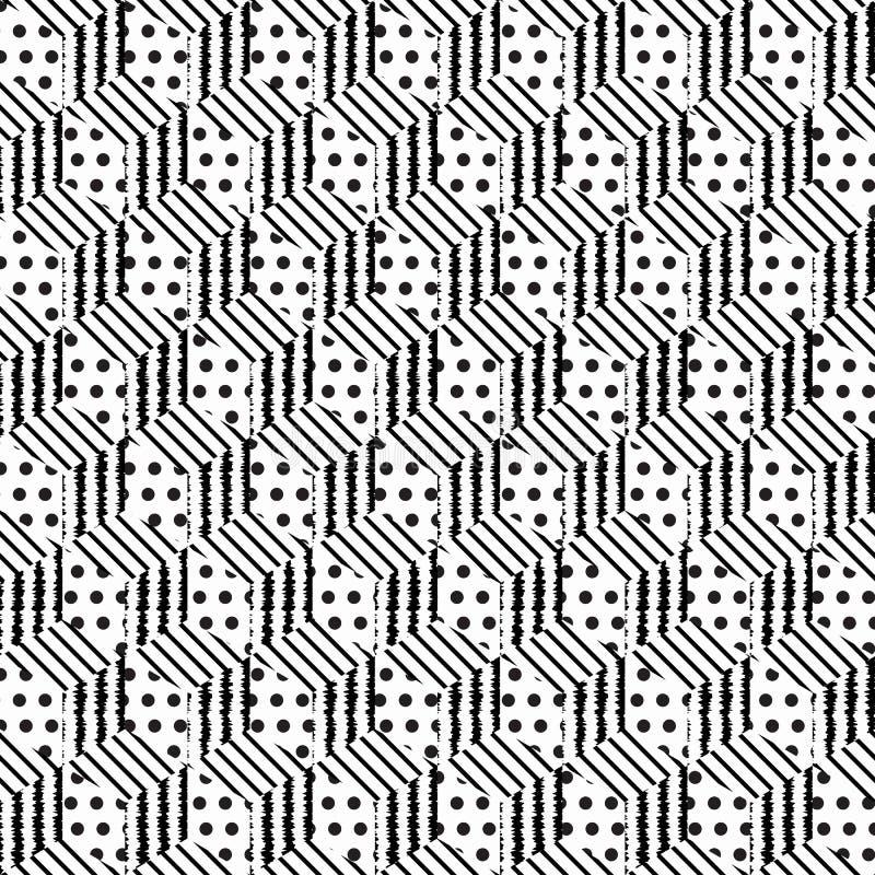 Nahtlose Musterwürfel vektor abbildung