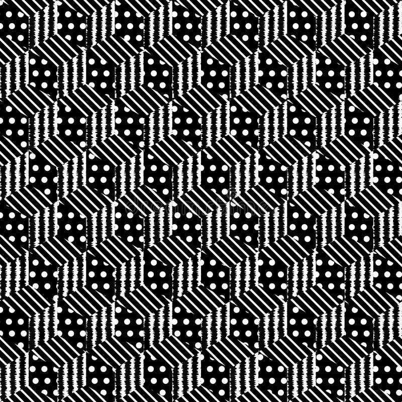 Nahtlose Musterwürfel stock abbildung