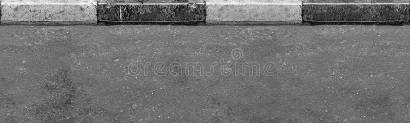 Nahtlose (nur horizontale) Straße mit Grenze stockbilder