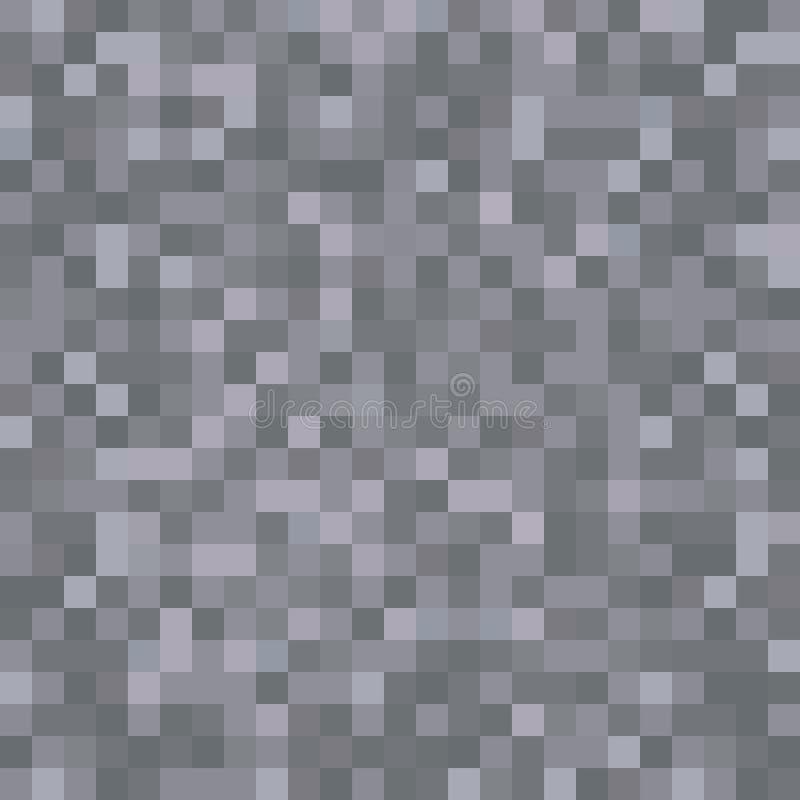 Nahtlose pixelated dunkle Steinbeschaffenheit, die Hintergrund für verschiedene digitale Anwendungen aufzeichnet vektor abbildung