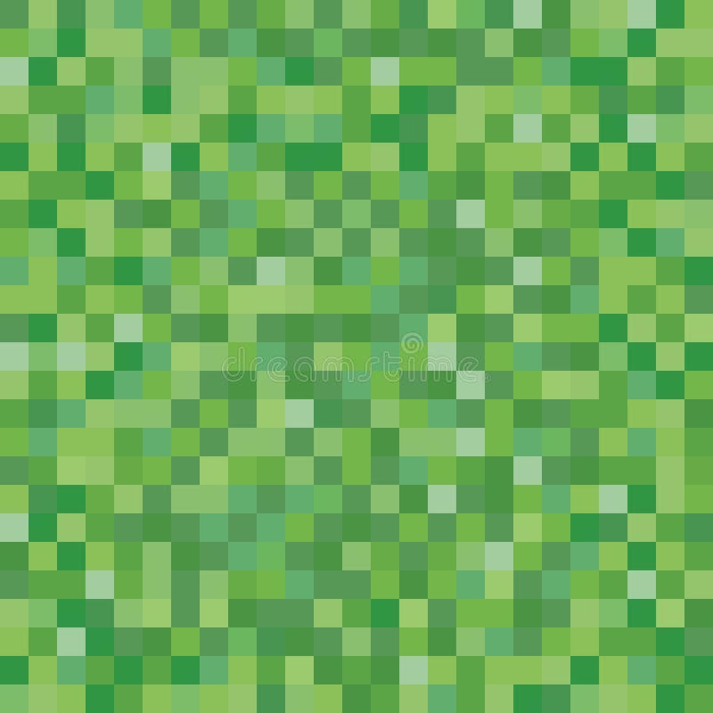 Nahtlose pixelated Grasbeschaffenheit, die Hintergrund für verschiedene digitale Anwendungen aufzeichnet lizenzfreie abbildung
