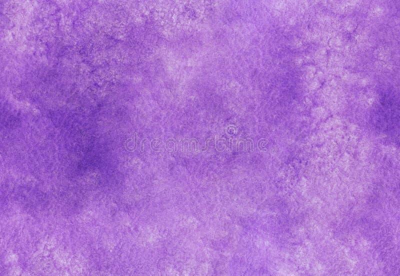 Nahtlose purpurrote Aquarellbeschaffenheit Hand gezeichneter Aquarellhintergrund Buntes Spritzen im Papier stockfotografie