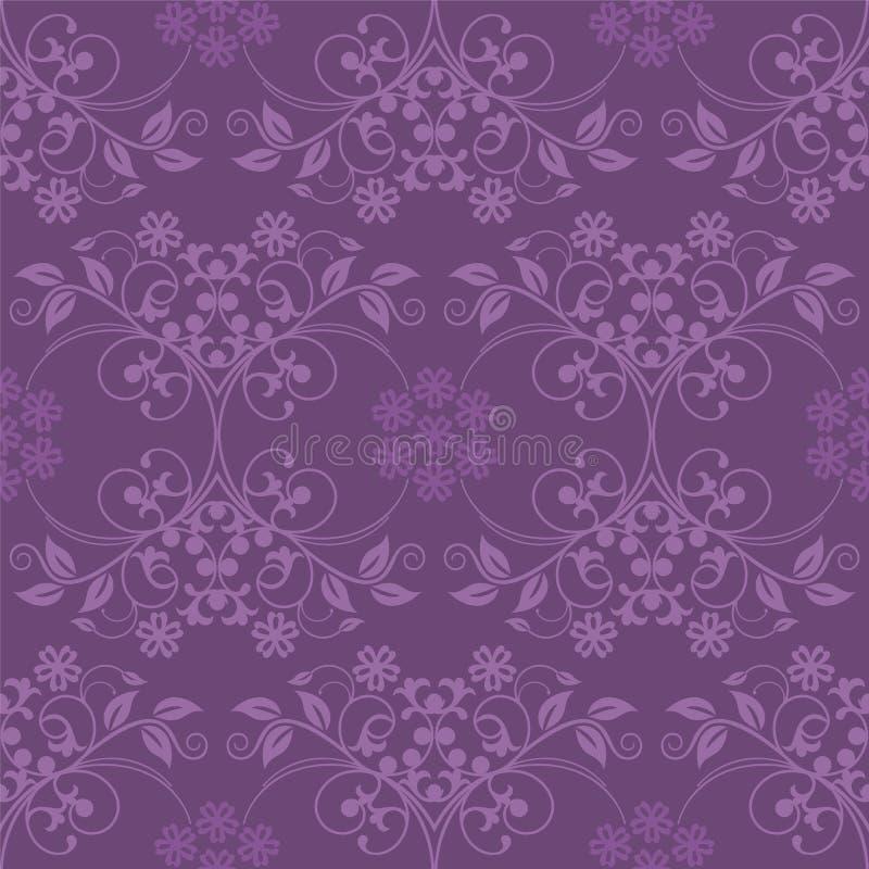 Nahtlose purpurrote Tapete stock abbildung