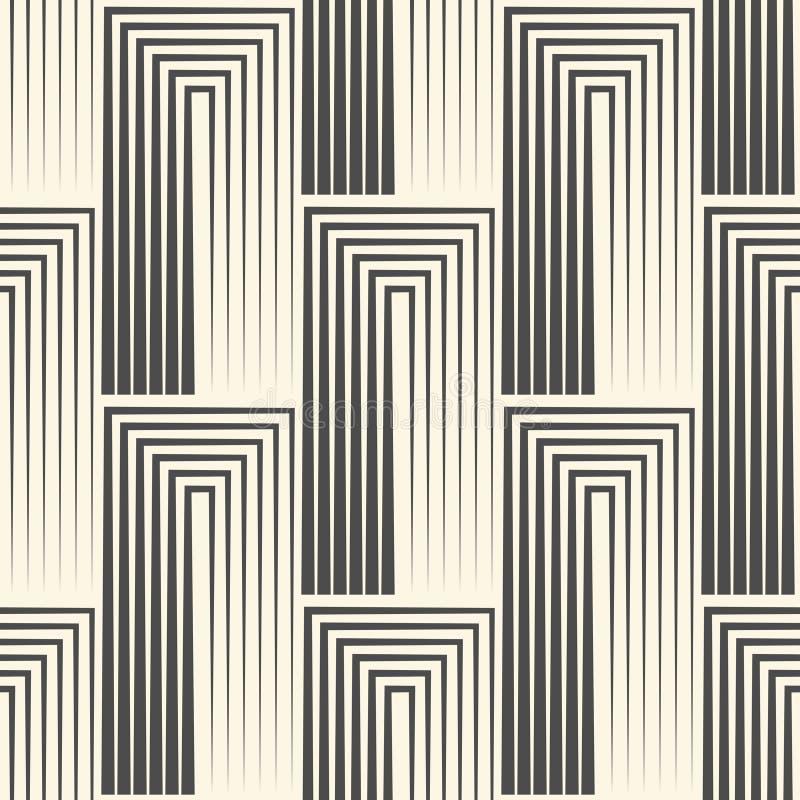 Nahtlose quadratische Tapete Streifen-Grafikdesign Abstrakter Grieche lizenzfreie abbildung