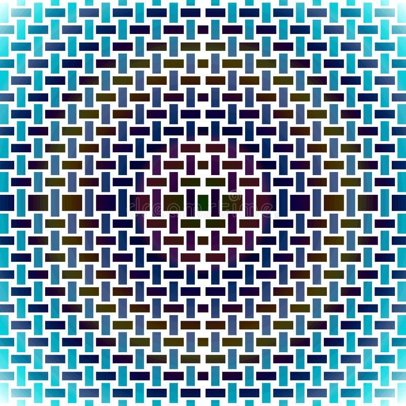 Nahtlose Rechtecke kopieren purpurrotes Weiß des blauen Grüns des Türkises lizenzfreie abbildung