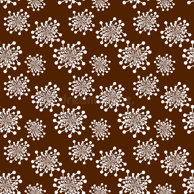 Nahtlose Retro- Blumen über Braun vektor abbildung