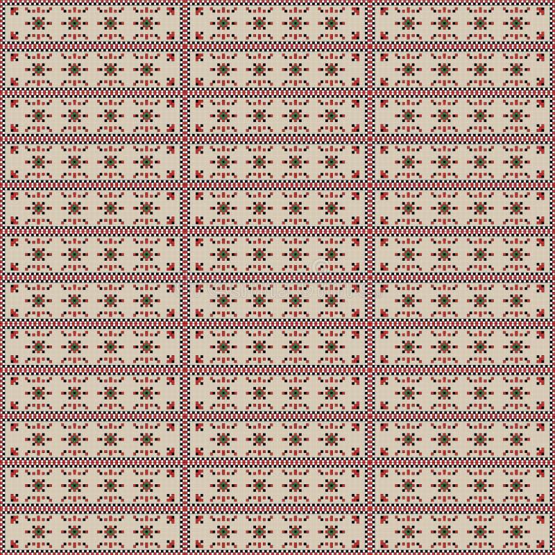 Nahtlose Retro- Mustermusterf?lle f?r Gewebe- oder Textildruck Vektorweinlesequadrate in den verschiedenen Farben zusammen gemisc stock abbildung