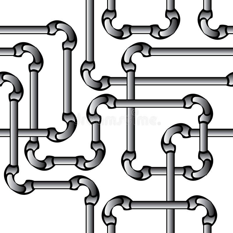 Nahtlose Rohre stock abbildung