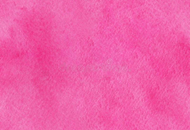 Nahtlose rosa Aquarellbeschaffenheit Hand gezeichneter Aquarellhintergrund Buntes Spritzen im Papier stockfotografie